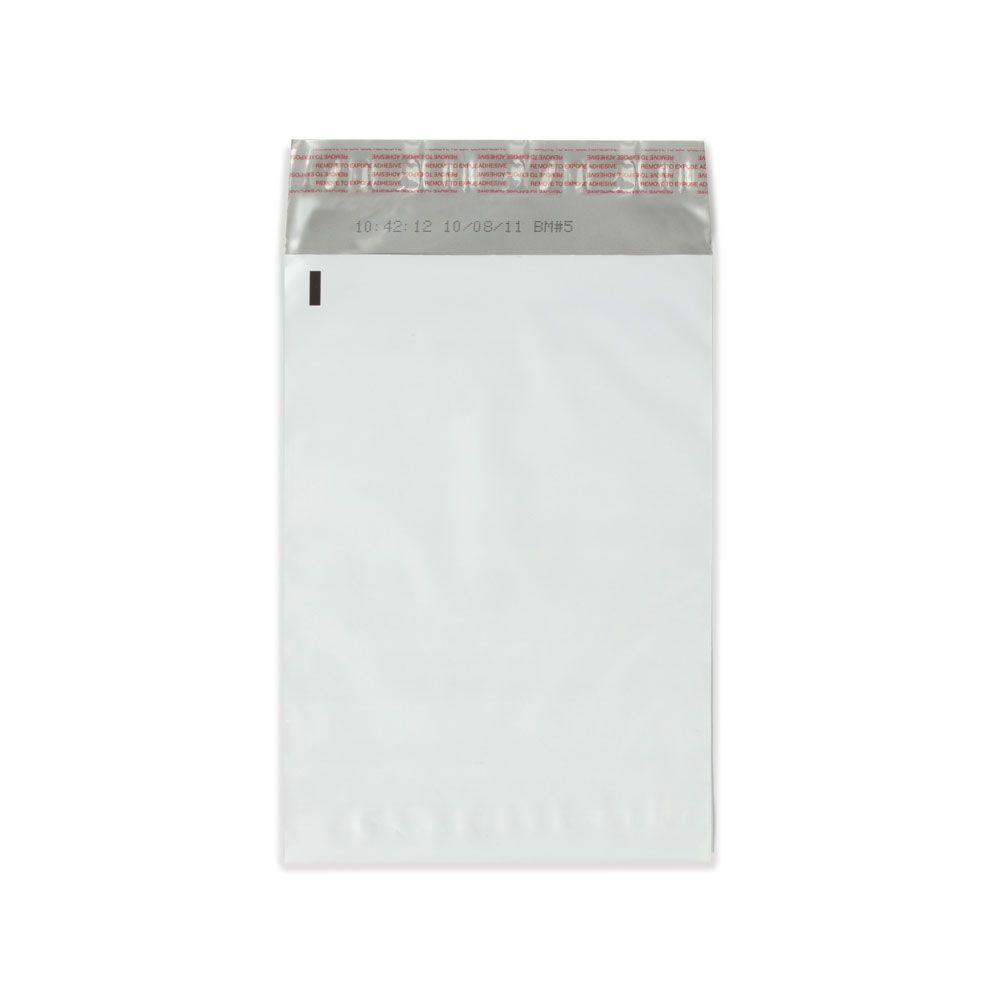 Plain White 7.5 in. x 10.5 in. White / Silver Flat Poly Mailers with Adhesive Easy Close Strip 100/Case