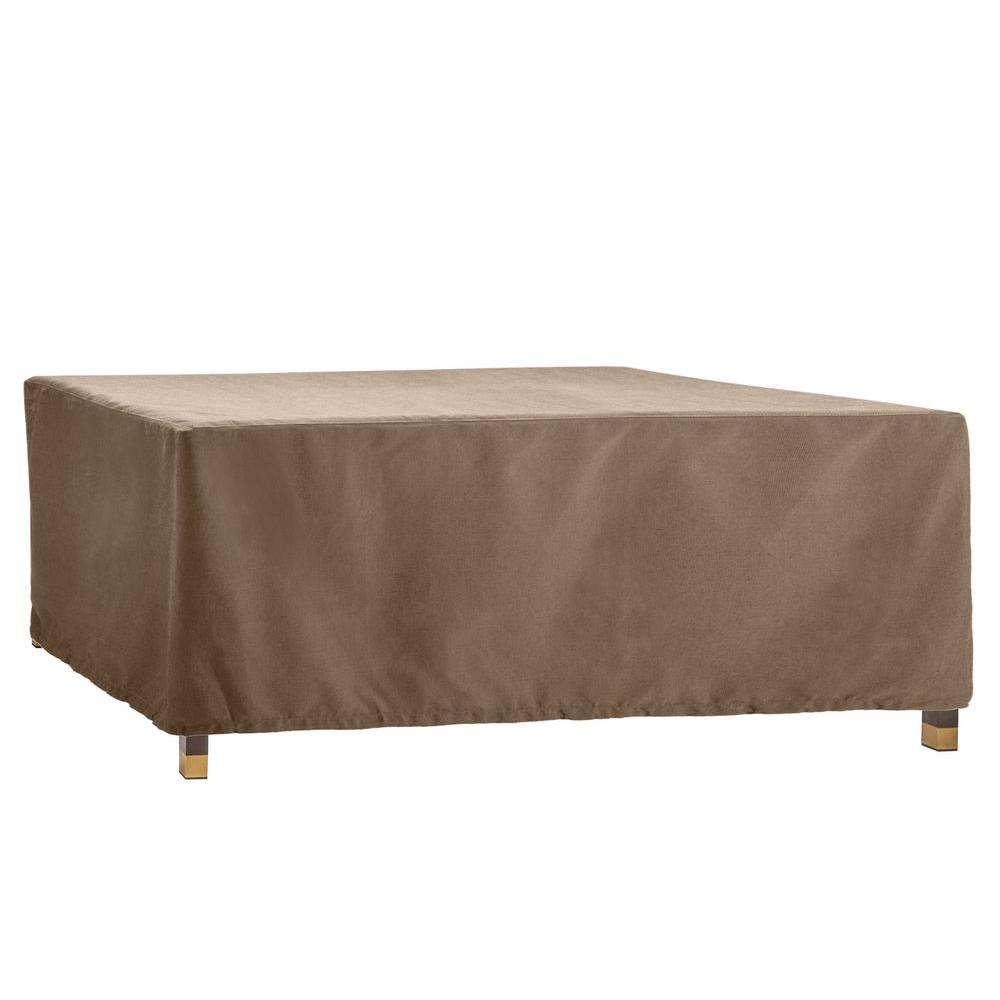 Brown Jordan Form Patio Furniture Cover For The Rectangular Dining Table 3872 6084 Home Depot