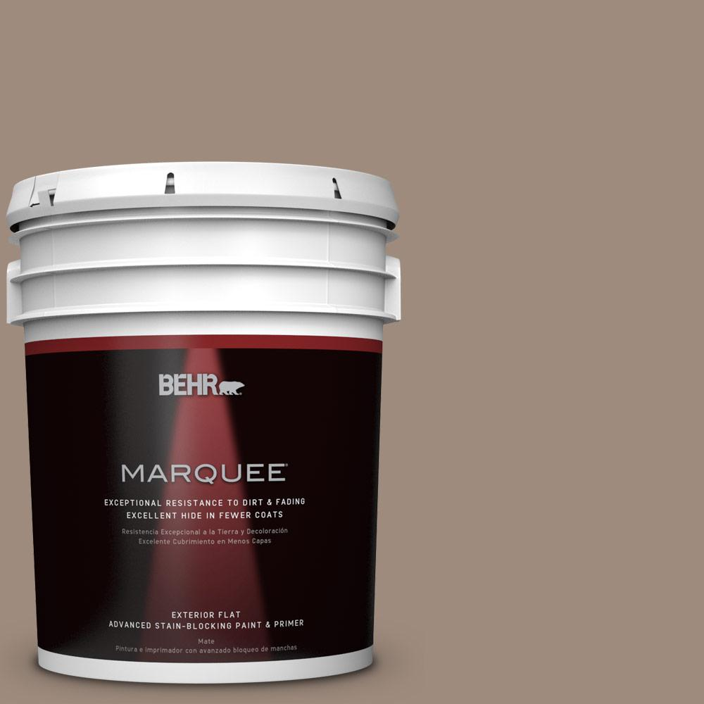 BEHR MARQUEE 5-gal. #BXC-49 Smokey Tan Flat Exterior Paint