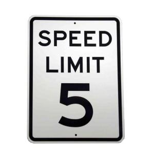 Brady 24 inch x 18 inch Aluminum Speed Limit 5 MPH Sign by Brady