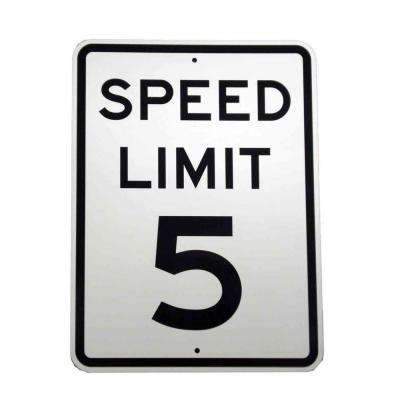 24 in. x 18 in. Aluminum Speed Limit 5 MPH Sign