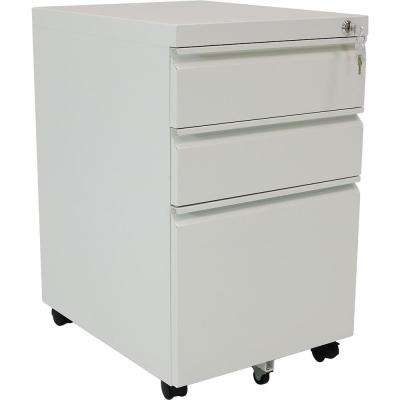 Rolling Steel 3-Drawer Wheeled Mobile File Cabinet with Lock