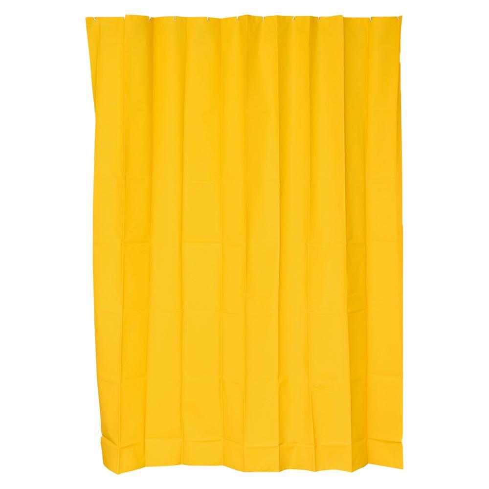 71 in. x 79 in. Sunshine Solid Bath Shower Curtain