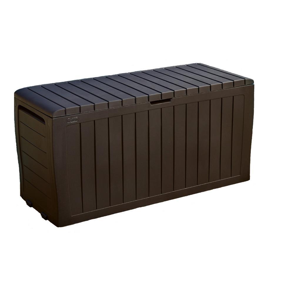 Marvel Plus 71 Gal. Resin Deck Box in Brown