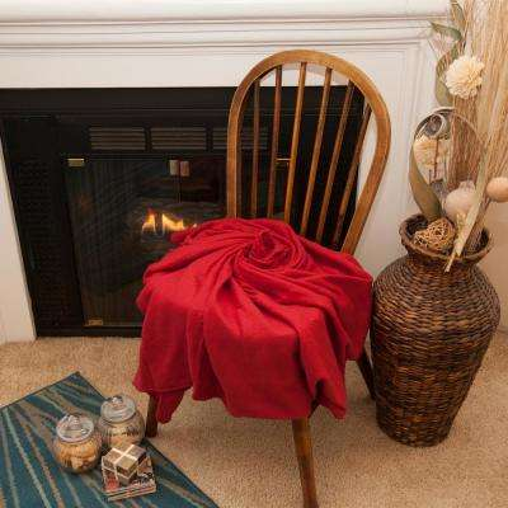 50 in. x 60 in. Red Super Soft Fleece Throw Blanket (24-Pack)