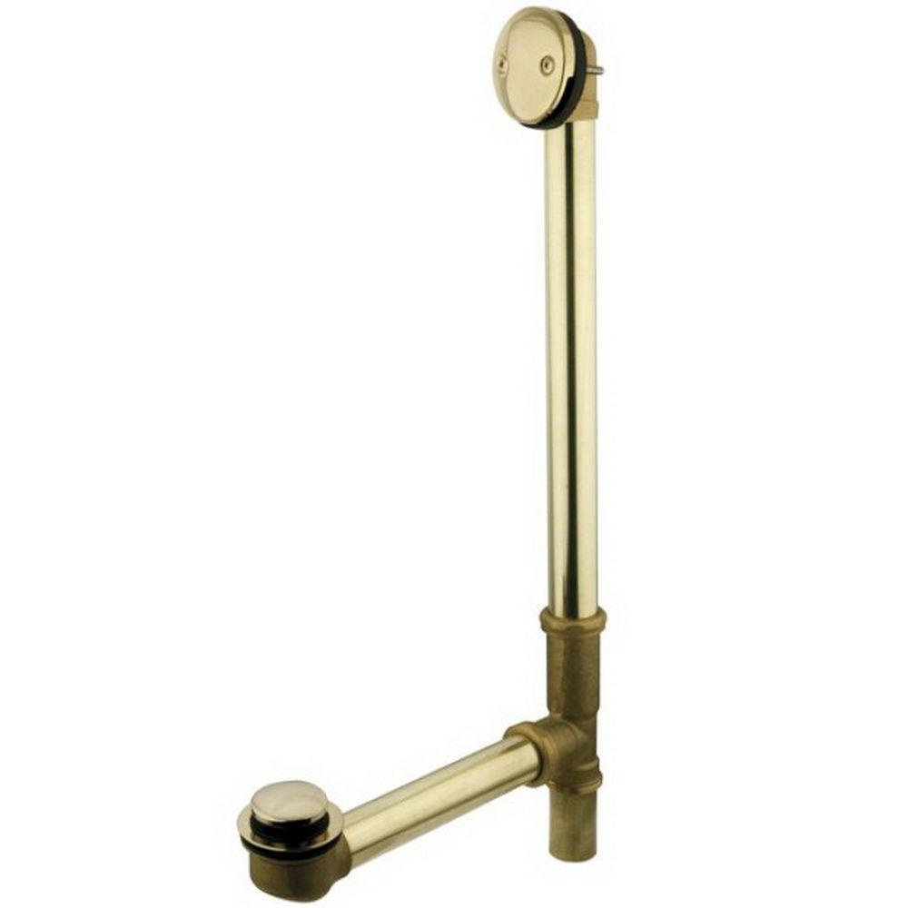 O.D. Brass Leg Tub Drain With Tip Toe Drain In Polished Brass HPDTT2182    The Home Depot