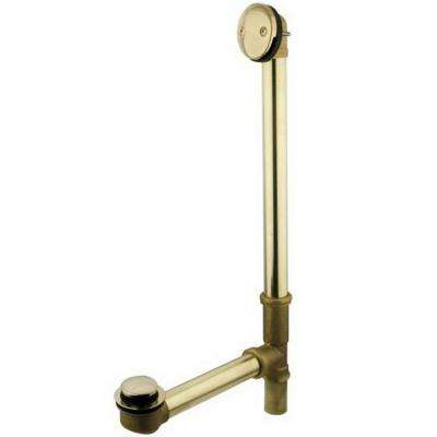 Claw Foot 1-1/2 in. O.D. x 1-1/2 in. O.D Brass Leg Tub Drain with Tip Toe Drain in Polished Brass