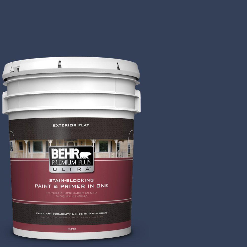 BEHR Premium Plus Ultra 5-gal. #600F-7 Soulful Music Flat Exterior Paint