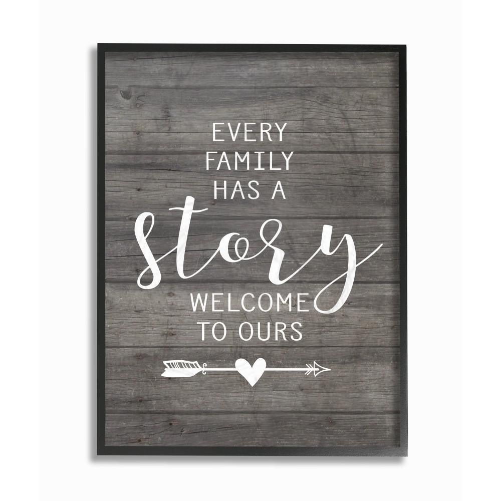 Stupell Industries 16 In X 20 In Every Family Has A Story By Lettered And Lined Wood Framed Wall Art Rwp 123 Fr 16x20 The Home Depot