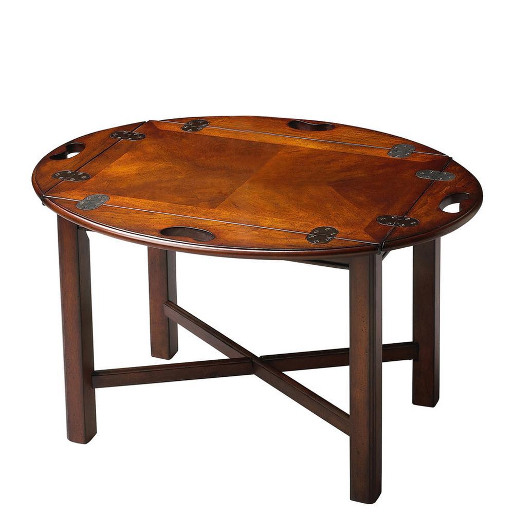 End Grain Coffee Table.Butler Carlisle Plantation Cherry Butler Table