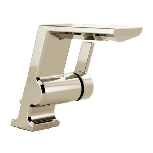 Pivotal Single Hole Single-Handle Bathroom Faucet with Metal Drain Assembly in Polished Nickel
