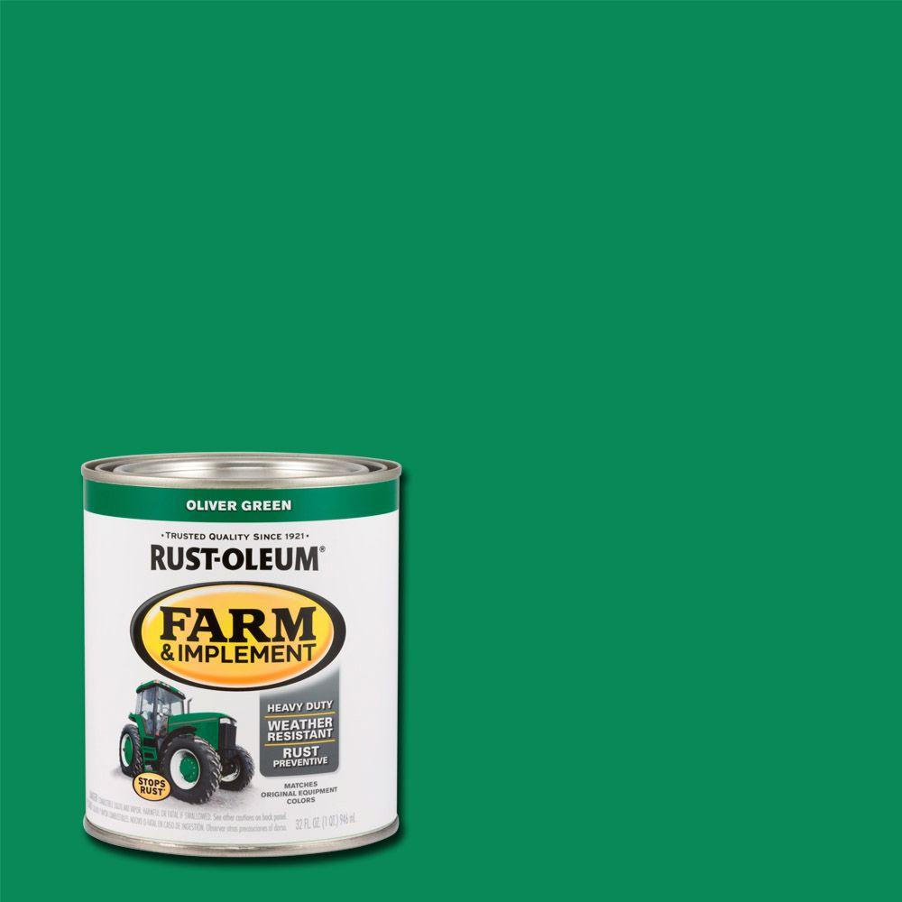 1 qt. Farm and Implement Oliver Green Paint (Case of 2)