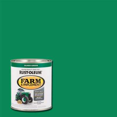 1 qt. Farm & Implement Oliver Green Enamel Paint (2-Pack)