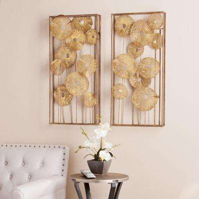 Cheyene 30.5 in. H x 14.25 W Abstract Floral Wall Art (2-Piece)