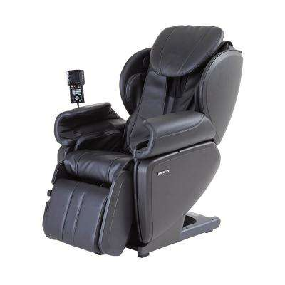 Black Contemporary Synthetic Leather Premium 4D Japanese Designed Massage Chair