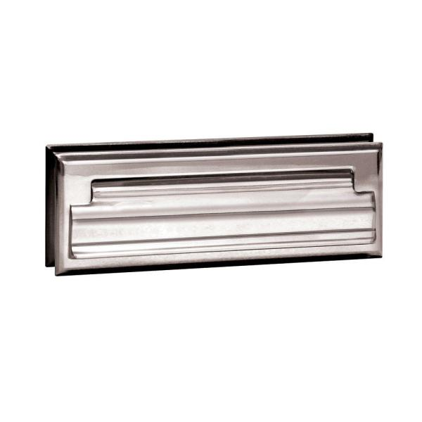 4000 Series 8.75 in. W x 2.75 in. H x 1.75 in. D Standard Letter Size Mail Slot in Chrome Finish