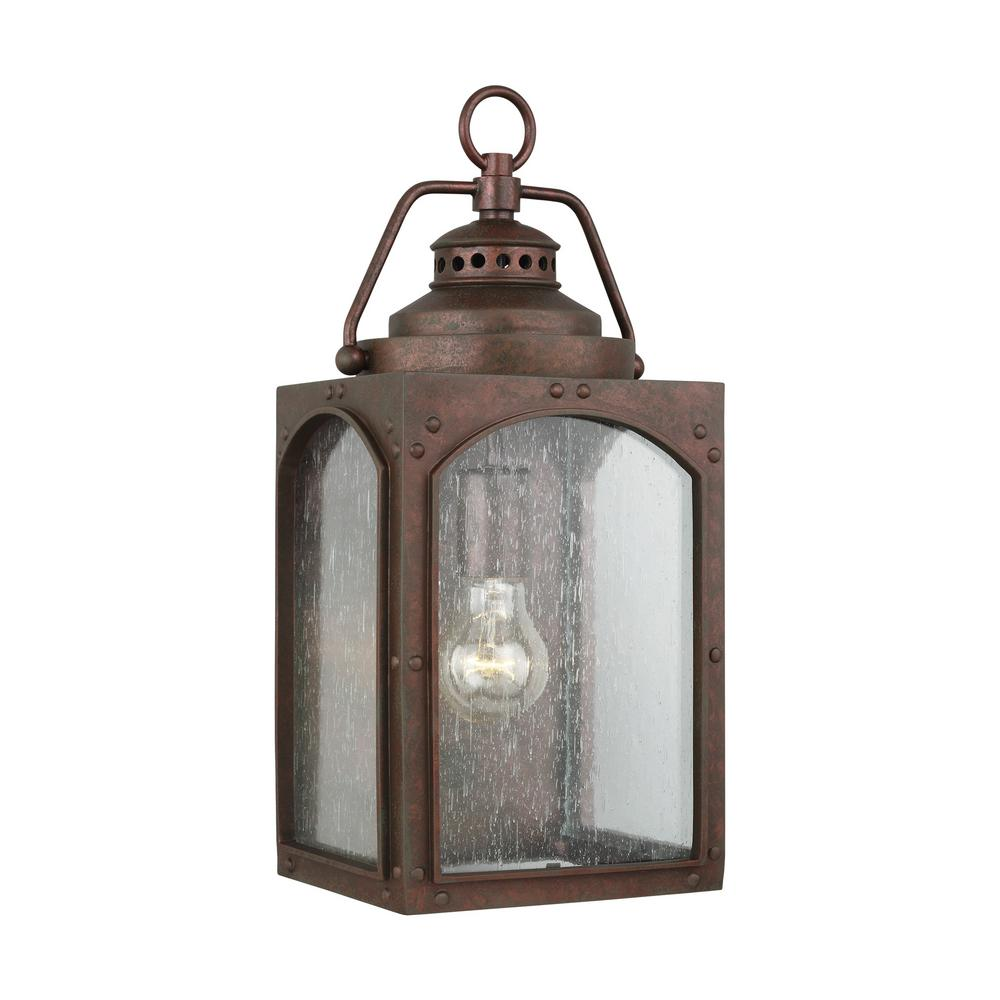 Feiss Randhurst 16 25 in  1-Light Copper Oxide Outdoor Wall Lantern Sconce