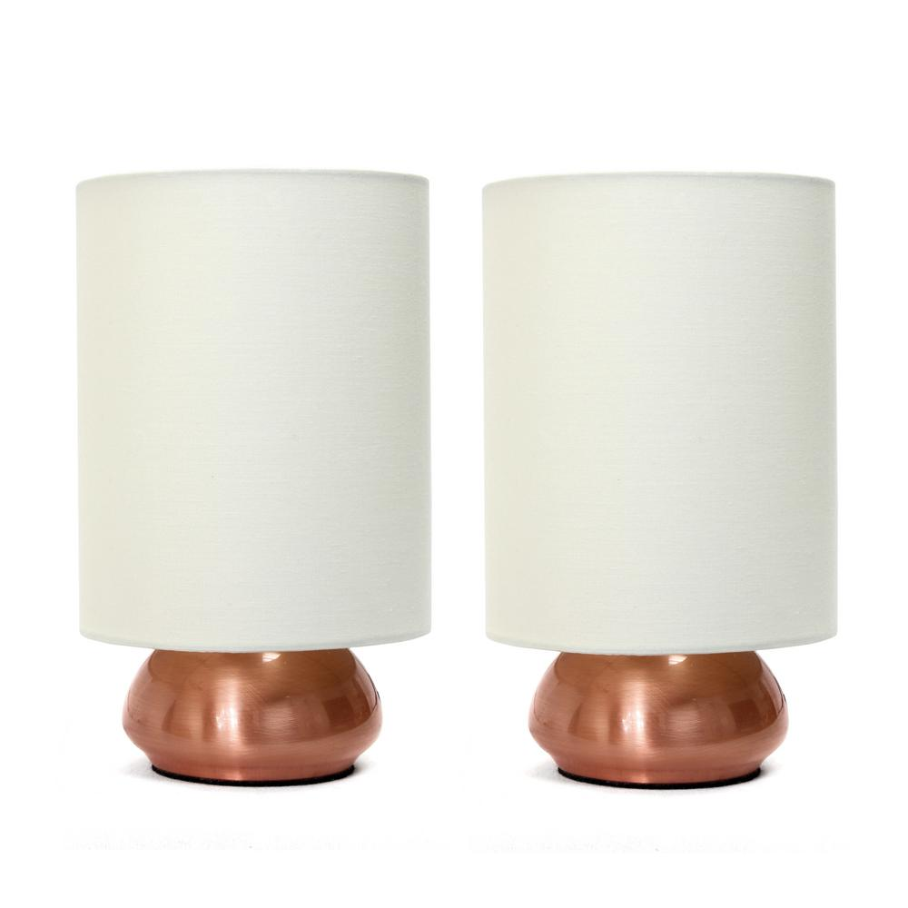 Mini Touch Lamp With Fabric Shades (2 Pack)