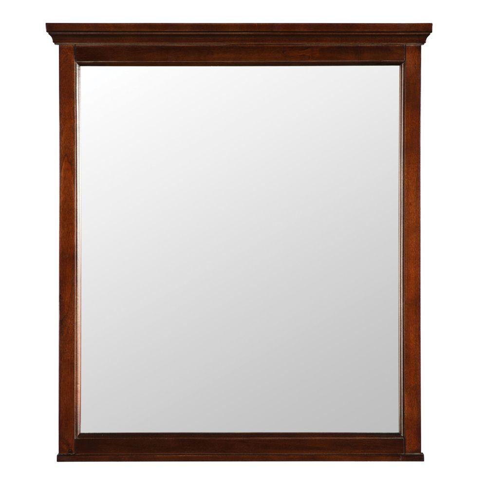 Brushed Nickel Bathroom Mirror. Wall Mirror in Mahogany Bathroom Mirrors  Bath The Home Depot