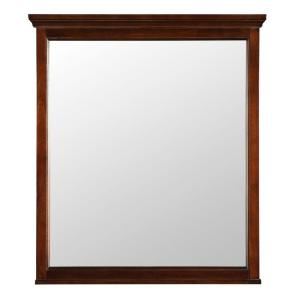 Foremost Ashburn 28 inch x 32 inch Wall Mirror in Mahogany by Foremost