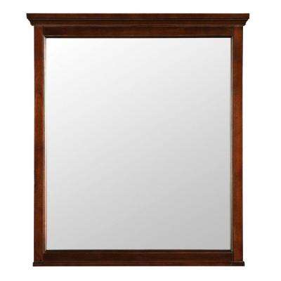 Ashburn 28 in. x 32 in. Wall Mirror in Mahogany