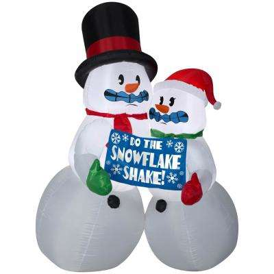 Holiday 6 ft. Pre-lit Inflatable Animated Shivering Snow Couple Airblown
