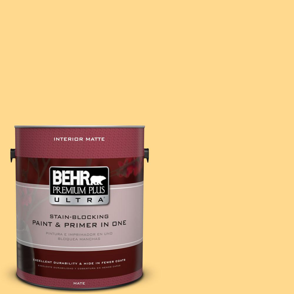 BEHR Premium Plus Ultra 1 gal. #P270-4 Egg Cream Matte Interior Paint