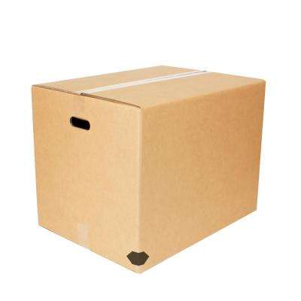 18 in. L x 18 in. W x 24 in. D Large Heavy-Duty Moving Box with Handles