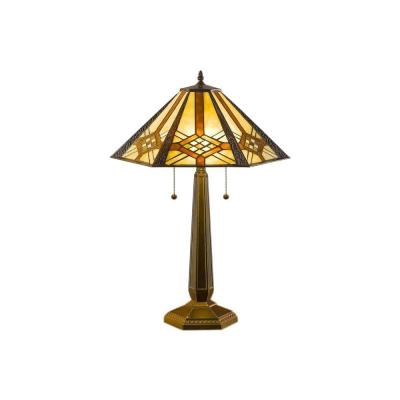 25 in. Height Tiffany Hex Mission Bronze Table Lamp