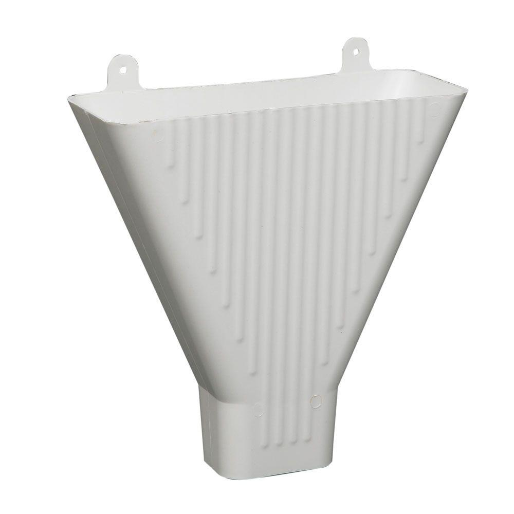 amerimax home products white plastic funnel 85208 the home depot