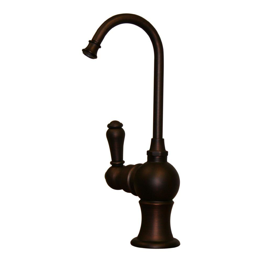 1-Handle Instant Hot Water Dispenser in Mahogany Bronze