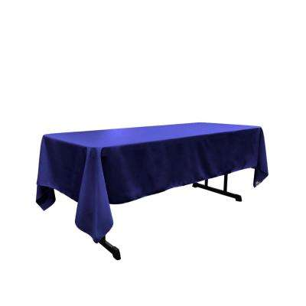 Polyester Poplin 60 in. x 108 in. Royal Blue Rectangular Tablecloth
