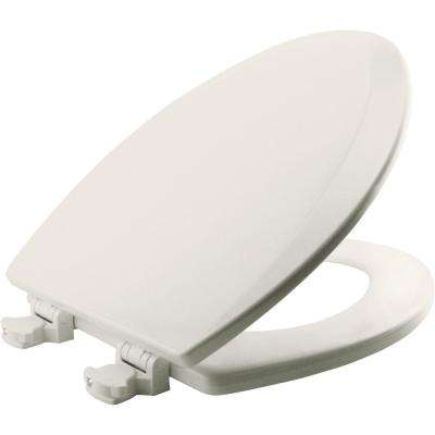 Lift-Off Elongated Closed Front Toilet Seat in Biscuit