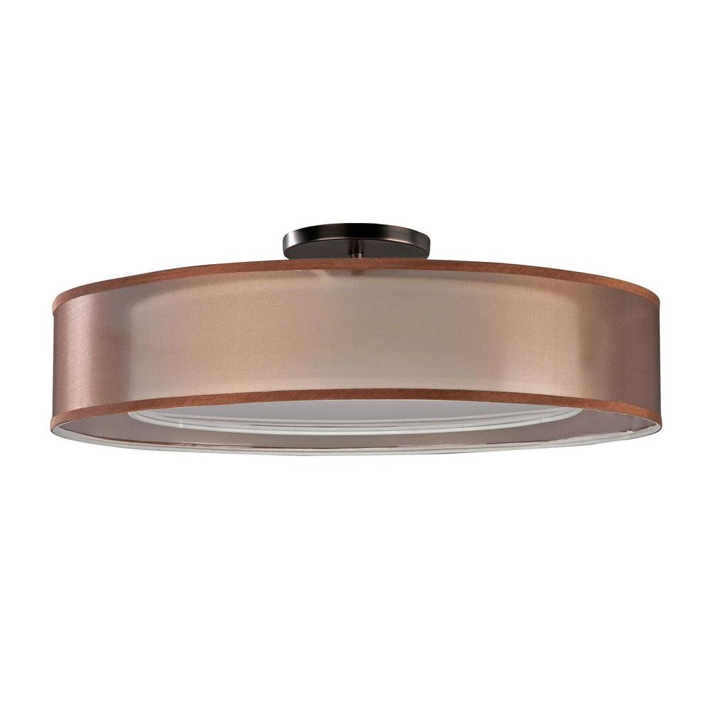 Radionic Hi Tech Orly 3-Light Oakley Bronze Ceiling Mount