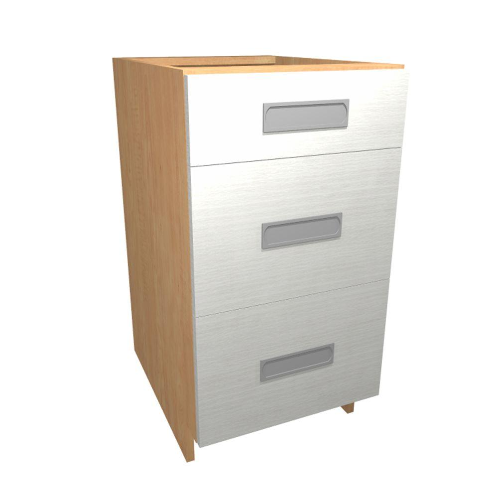 Home Decorators Collection Genoa Ready To Assemble 30 X 34 5 X 24 In Base Drawer Cabinet With 3