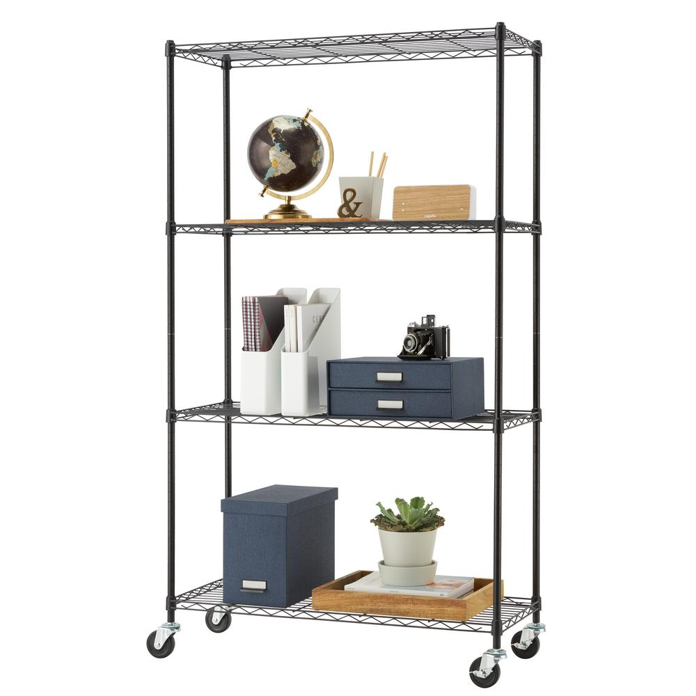Rack-A-Tiers E-Z Roll Wire Rack-55455 - The Home Depot