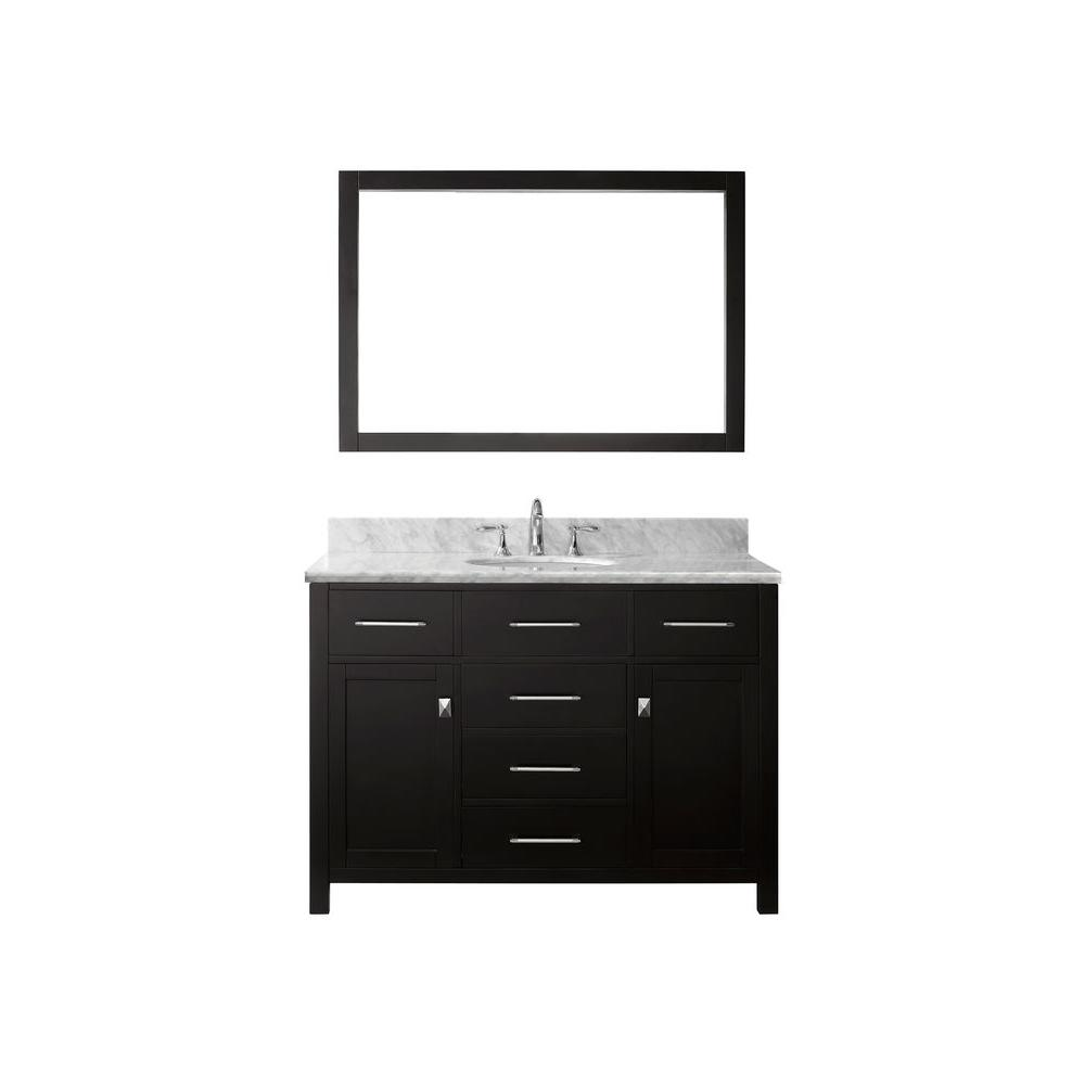 Caroline 48 in. W x 36 in. H Vanity with Marble