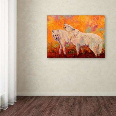 "14 in. x 19 in. ""Arctic Wolves II"" by Marion Rose Printed Canvas Wall Art"