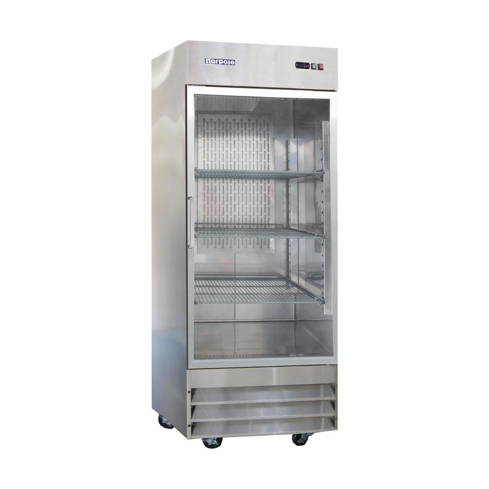 Norpole 29 in. W 23 cu. ft. Single Door Reach-in Commercial Refrigerator in Stainless Steel
