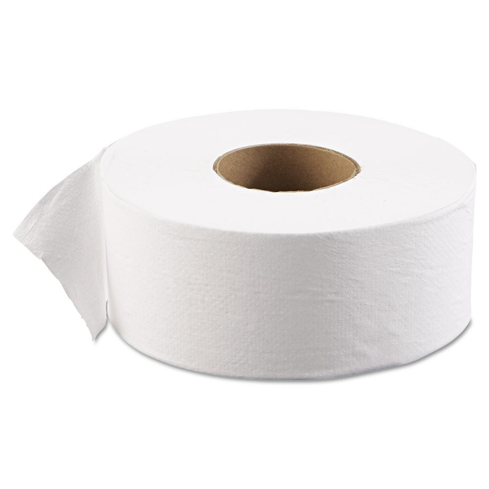 3-1/2 in. x 2000 ft. 1-Ply 9 in. Dia in White JRT Junior Bath Tissue Jumbo (12-Carton)