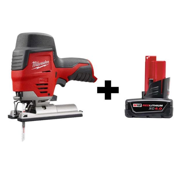 M12 12-Volt Lithium-Ion Cordless Jig Saw with 4.0 Ah Battery