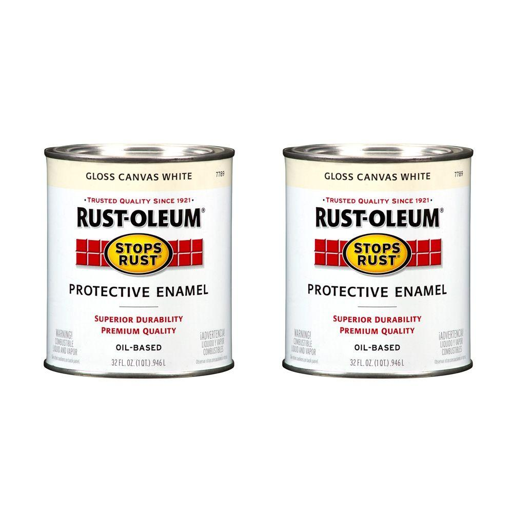 Rust-Oleum Stops Rust 32 oz. Canvas White Protective Enamel (2-Pack)-DISCONTINUED