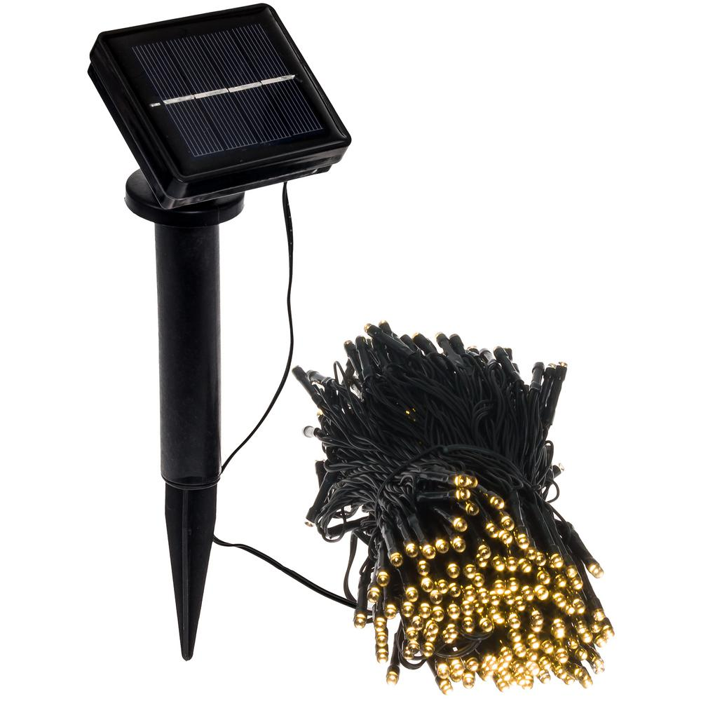 250 Light 80 ft. Solar Powered Integrated LED Warm White Christmas