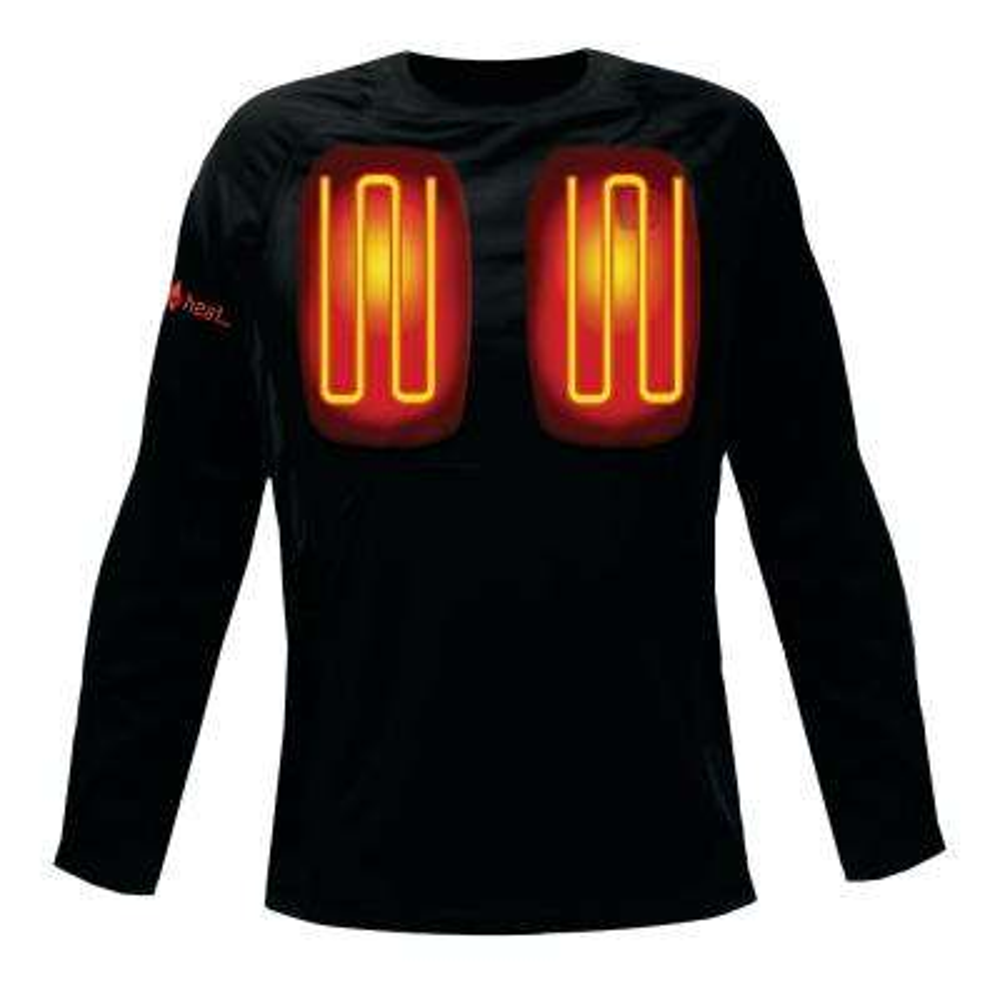 Men's X-Large Black Long Sleeved Heated Base Layer Shirt