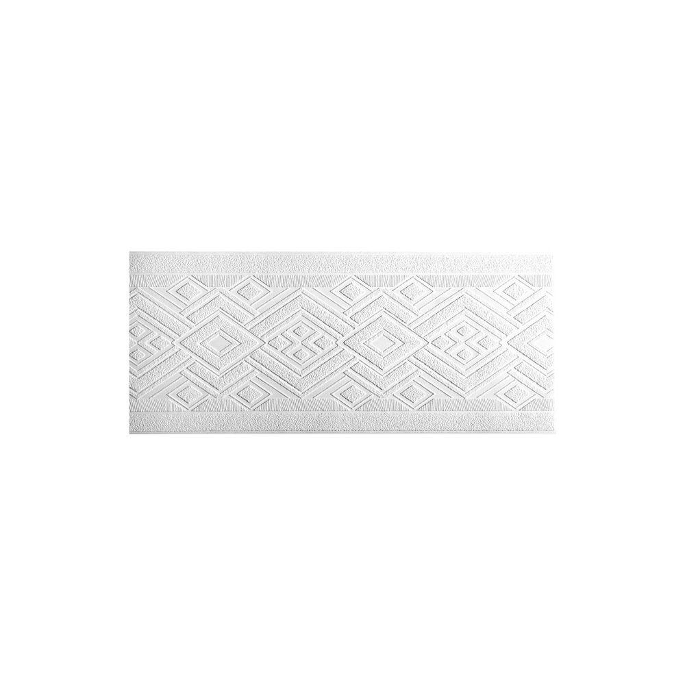York Wallcoverings 7 in. Patent Decor Side Diamond Paintable Border