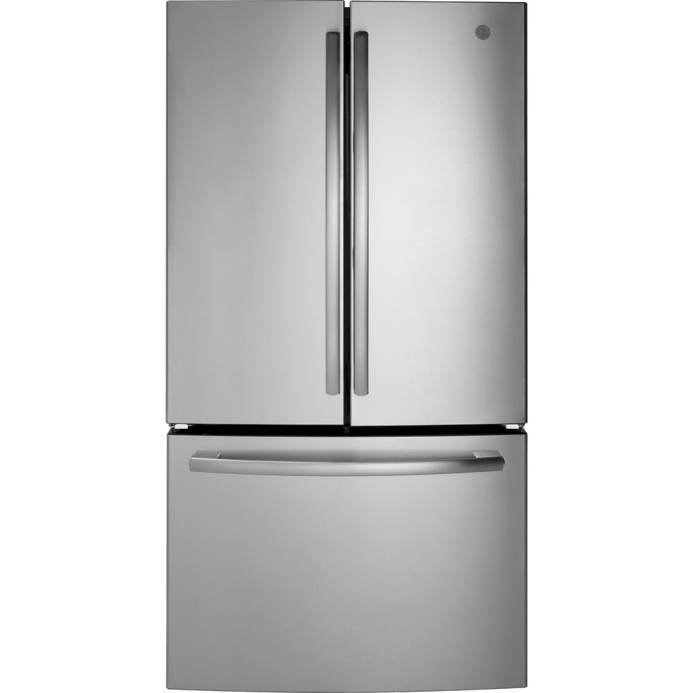 GE 27 cu. ft. French Door Refrigerator in Stainless Steel,  ENERGY STAR