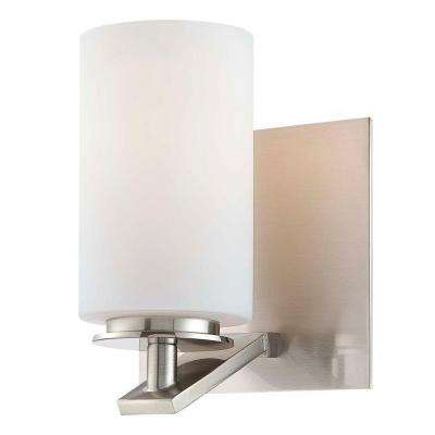 Inoui Bath 1-Light Brushed Nickel Bath Light