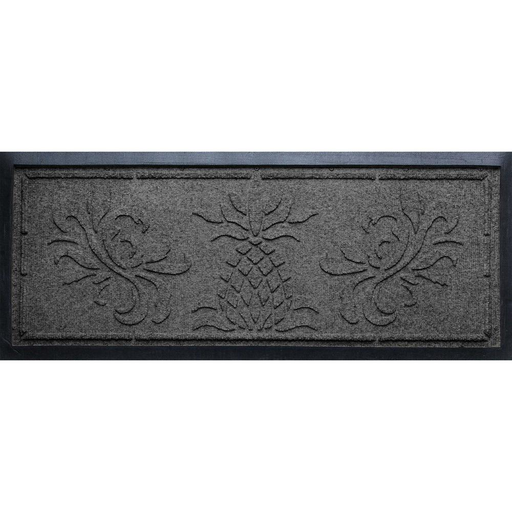 Charcoal 15 in.x 36 in. x 0.5 in. Pineapple Boot Tray