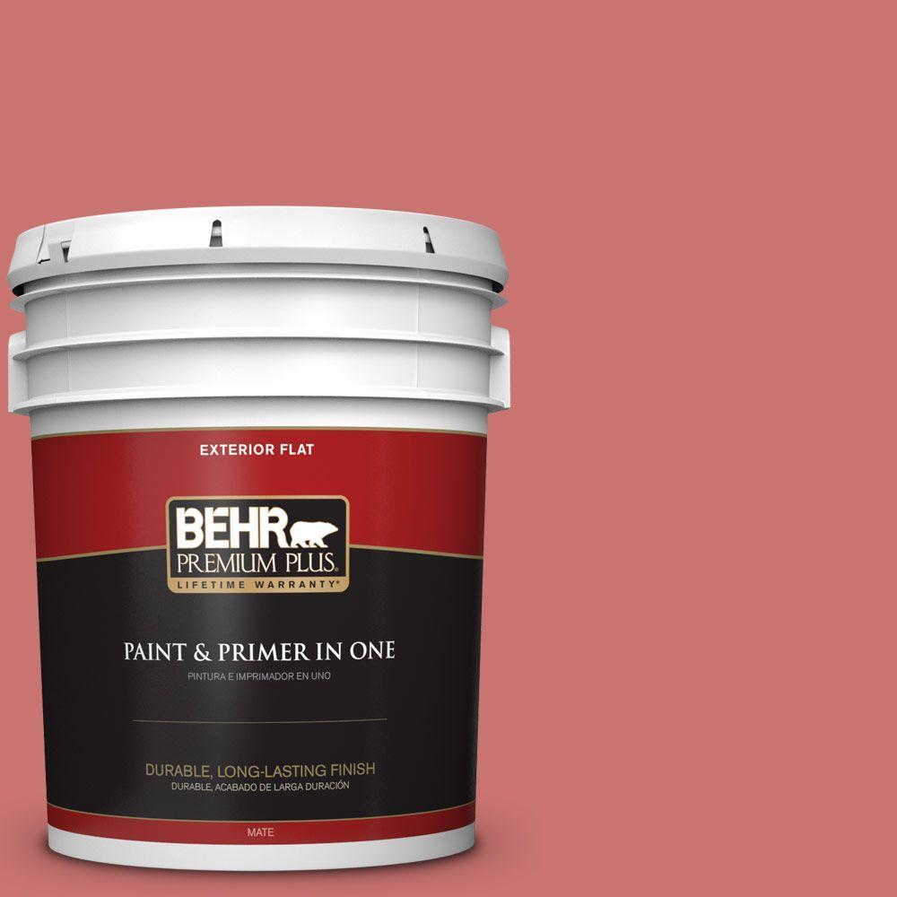 BEHR Premium Plus 5-gal. #160D-5 Lovable Flat Exterior Paint