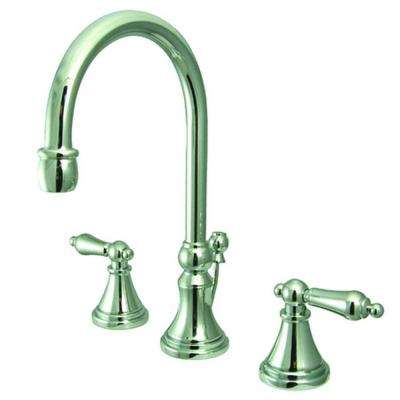 Victorian 8 in. Widespread 2-Handle Bathroom Faucet in Polished Chrome